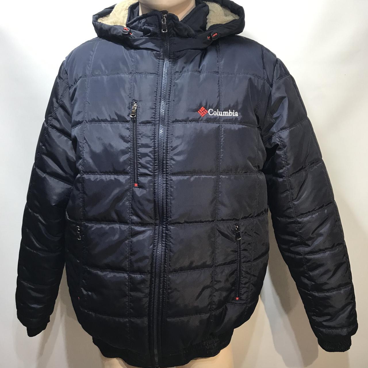Куртка мужская зимняя на овчине в стиле Columbia плотная ткань р. L, XL, 2XL, 58