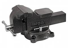 Тиски слесарные YATO поворотные с наковальней 125 мм 10 кг