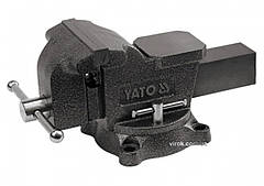 Тиски слесарные YATO поворотные с наковальней 150 мм 15 кг