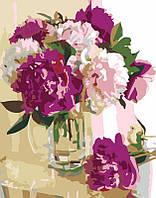 """Набір-стандарт, картина за номерами, """"Рожеві півонії"""", 35х45см, ROSA START"""
