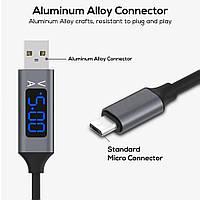 Зарядный кабель USB с Микро-USB разъёмом + дисплей с амперметром и вольтметром