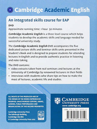 Cambridge Academic English C1 Advanced Class Audio CD and DVD Pack : An Integrated Skills Course for EAP, фото 2