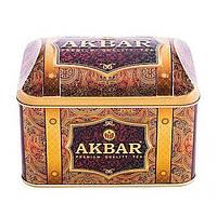 Чай Акбар Клубничный с кремом 250 гр жестяная банка