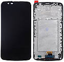 Дисплей LG K10 K410 / K420 / K430 complete with FRAME Black, фото 2