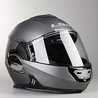 Шлем модуляр LS2 FF399 Valiant  Flip-Up Helmet Matte Titanium Мат ТИТАН + PINLOCK в Подарок, фото 1