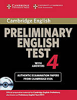 Cambridge Preliminary English Test 4. Self-study Pack