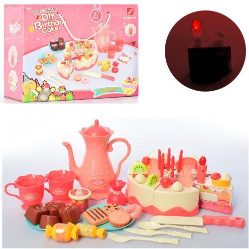 Продукты на липучке, торт, свечи, кофейный сервиз на 2 персоны, сладости, 889-148