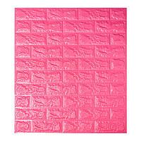 Самоклеющиеся обои Декоративная 3D панель ПВХ 1 шт, темно-розовый кирпич