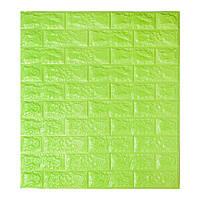 Самоклеющиеся обои Декоративная 3D панель ПВХ 1 шт, зеленый (салатовый) кирпич