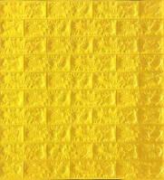 Самоклеющиеся обои Декоративная 3D панель ПВХ 1 шт, желтый кирпич