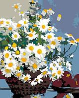 """Набір-стандарт, картина за номерами, """"Ромашки у корзині"""", 35х45см, ROSA START"""