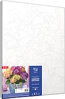 """Набір-стандарт, картина за номерами, """"Ніжні гортензії"""", 35х45см, ROSA START, фото 1"""