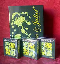 (Опт) по 2,02 грн/шт Презерватив Romeo & JULIET (Ромео і Джульєтта).ТОЧКОВІ (з пухирцями) Придатність до 2022