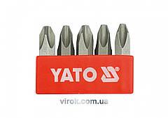 """Насадка отверточная ударная YATO 5/16"""" крестовая PH3 х 36 мм 5 шт"""
