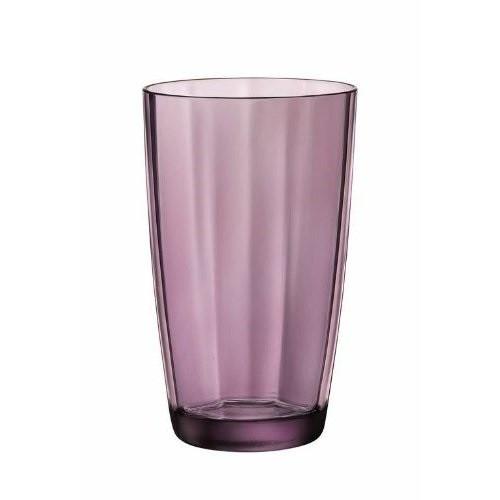 Стакан высокий BormioliRocco Pulsar Purple пурпурный 470мл d8,5 см h14,3 см стекло (360710 BR)