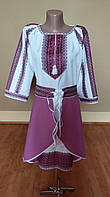 """Жіночий костюм """"Етнічний"""" фіолетовий"""