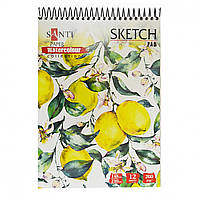 "Альбом для акварели Santi ""Floristics"",A5 ""Paper Watercolour Collection"" 12 листов 742605"