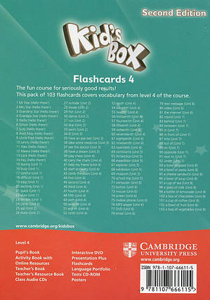 Kid's Box 4 Flashcards. Second Edition (Pack of 103 cards), фото 2