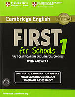Книга Cambridge English First 1 for Schools for Revised Exam from 2015 (+ 2 CDs)
