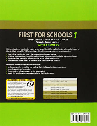 Cambridge English First 1 for Schools for Revised Exam from 2015 (+ 2 CDs), фото 2