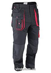 Штаны рабочие YATO красно-черные, размер XL