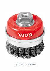 Щетка-крацовка чашеобразная YATO Ø=75 мм YT-4768