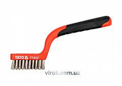 Щетка стальная YATO 180 мм 3 ряда YT-6337