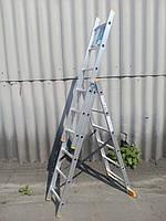 Лестница КРОК 3х6 Алюминиевая, 3 Секции, 6 ступеней, фото 2