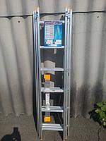 Лестница КРОК 3х6 Алюминиевая, 3 Секции, 6 ступеней, фото 3