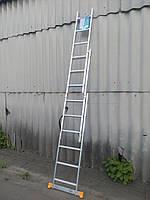 Лестница КРОК 3х6 Алюминиевая, 3 Секции, 6 ступеней, фото 4
