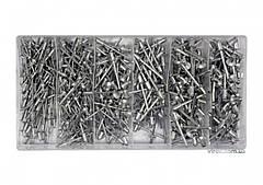Заклепки алюминиевые YATO Ø=2.4, 3.2, 4, 4.8 мм х 6.4 мм 400 шт