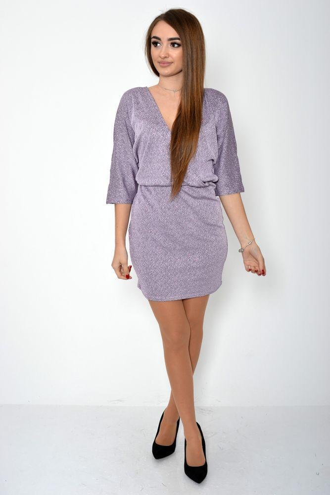 Платье женское 115R359B цвет Сиреневый