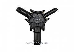 Калібратор трійник для труб PEX-AL-PEX або PERT-AL-PERT Ø=16, 20, 25 мм Yato YT-22373