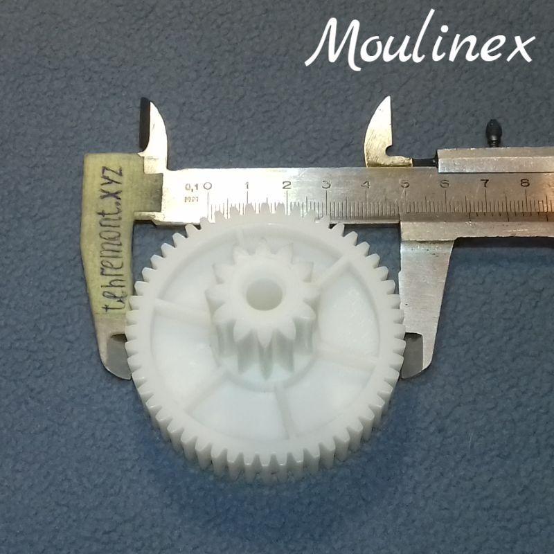 Шестерня (D-10) для мясорубки Moulinex MS-4775456 HV6 / HV8 (Z=52; z=12; D=65,5; d=25; H=42)