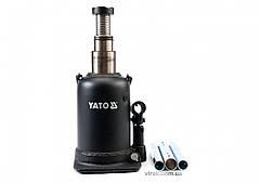 Домкрат гидравлический бутылочный с двойным штоком YATO 10 т 208-523 мм YT-1714