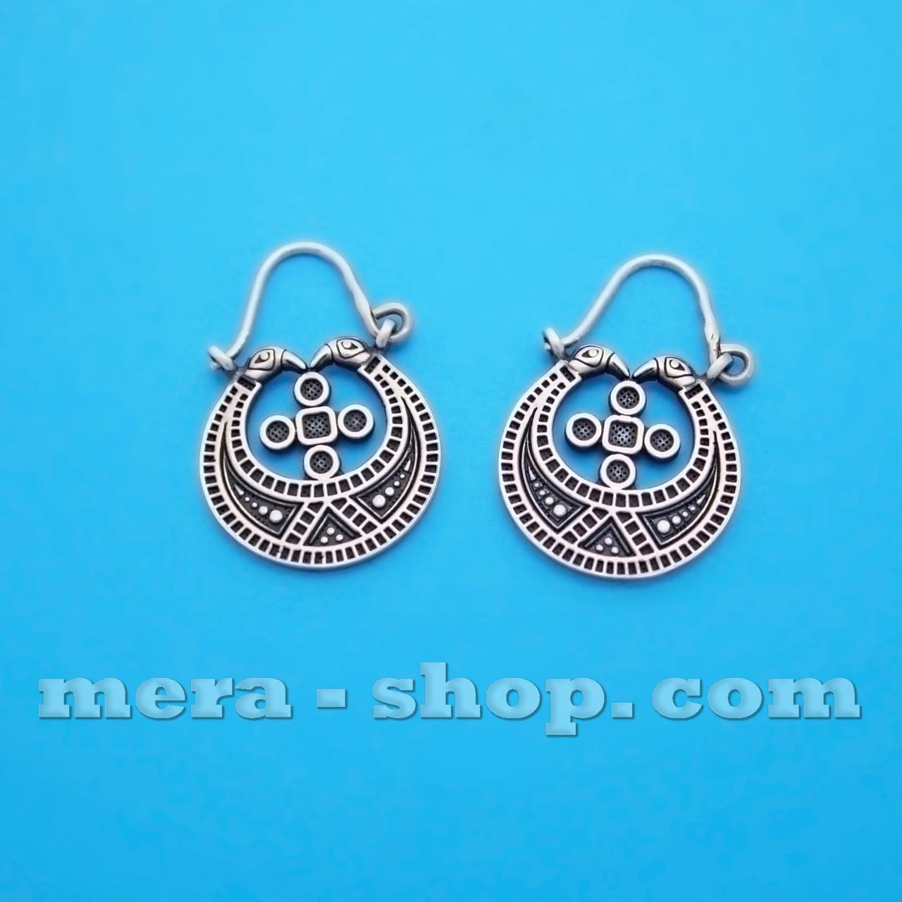 Лунницы серебряные сережки-оберег