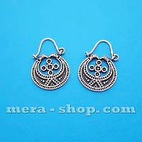 Лунницы серебряные сережки