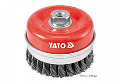 Щетка-крацовка чашеобразная YATO Ø=100 мм YT-4769