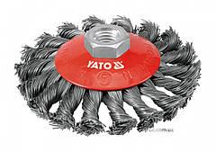 Щетка-крацовка YATO Ø=100 мм YT-4763