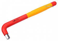 Ключ шестигранный Г-образный диэлектрический YATO HEX 10 x 52 x 235 мм VDE до 1000 В YT-21126