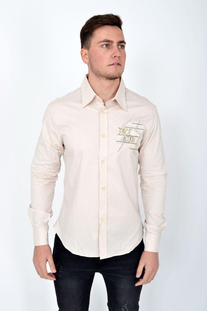 Рубашка 113RBeL0015 цвет Бежевый
