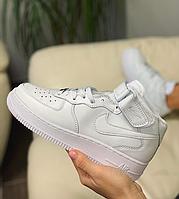Кроссовки  высокие натуральная кожа Nike Air Force Найк Аир Форс (36,37,40)