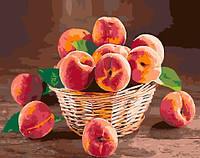 "Картина по номерам BrushMe Премиум ""Персики в корзине"" 40х50 см без упаковки PGX30478"