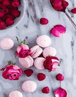 "Картина по номерам BrushMe Премиум ""Макаруны и розы"" 40х50 см без упаковки PGX27638"