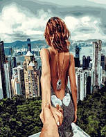 "Картина по номерам BrushMe Премиум ""Следуй за мной.Сингапур"" 40х50 см без упаковки PGX22061"