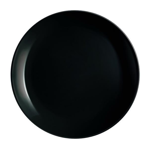 Тарелка десертная Luminarc Diwali Black круглая без борта d19 см стеклокерамика (0789P)