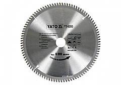 Диск пильный по алюминию YATO 250 х 30 х 3.0 x 2.2 мм 100 зубцов R.P.M до 6000 1/мин YT-6095