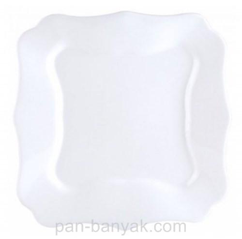 Тарелка десертная Luminarc Authentic White квадратная 20,5х20,5 см стеклокерамика (4701J)