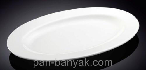 Блюдо овальное с бортом Wilmax  длина 36 см фарфор (992026 WL)