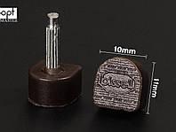 BISSELL шт. 2.2 мм,  р 10*11 мм, цв. коричневый набойки полиуретановые
